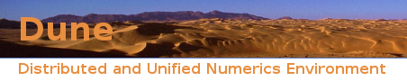 Distributed and Unified Numerics Environment